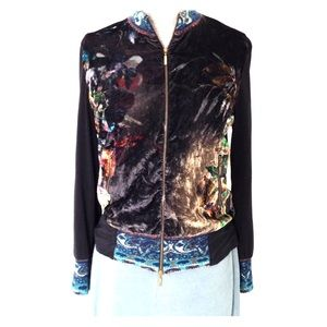 S Cap Juluca Velvet Jacket Top Zip Up Floral Spain